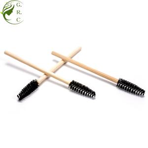 ZZBJMS Many Color Head Bamboo Handle Lash Eyelash Extension Mascara Cosmetic Angled Eyelash Disposable Bamboo Mascara Brush Wand