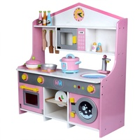 The New Child Japanese-style Simulation Kitchen Children's House Gas Stove Pretend Play Wooden Kitchen Set Toy