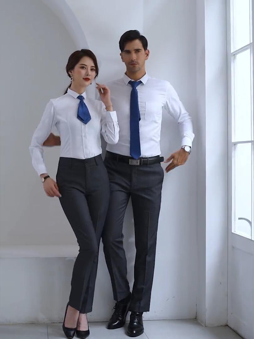OEM MTM 측정 100% 코튼 긴 소매 클래식 남자 정장 드레스 셔츠 비즈니스 중국산