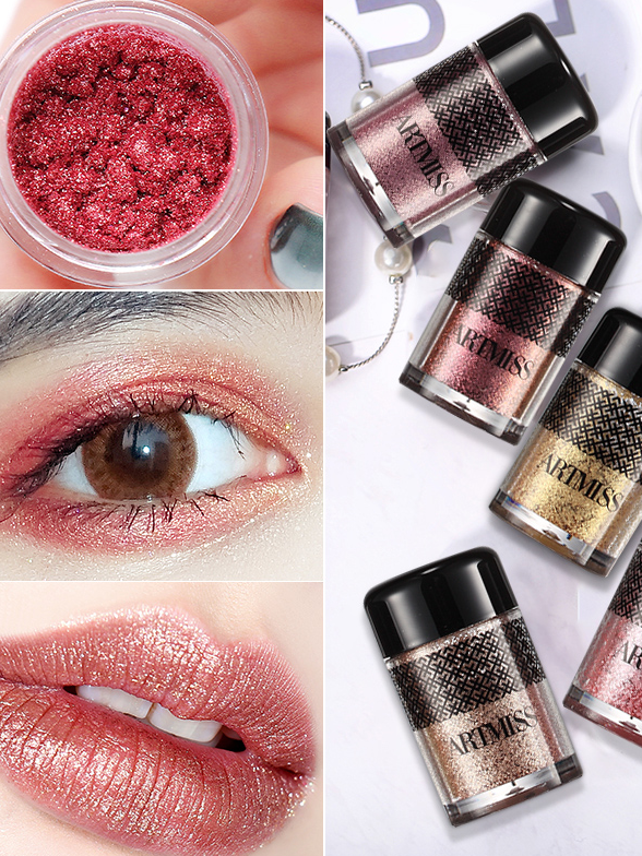 ARTMISS private label EYES or LIPS use high pigment glitter eyeshadow 8 colors  eye shadow
