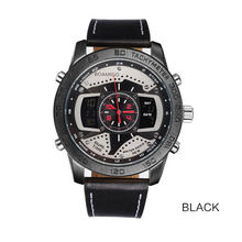 Топ мужские часы бренд BOAMIGO роскошный светодиодный кварцевые часы двойной часовой пояс Автоматическая Дата военные цифровые и аналоговые ч...(Китай)