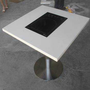 Restaurant Induction Dining Hot Pot Table Built In Buy Hot Pot