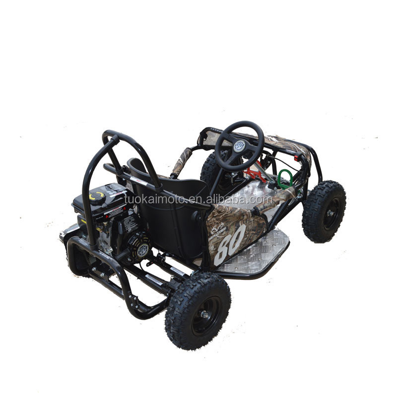safe hot selling dune buggy 80cc pedal go kart gas mini go kart for kids (TKG80-K2)