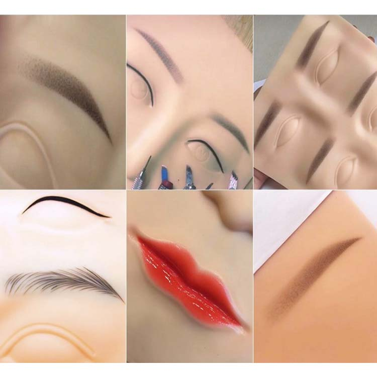 Hohe qualität Latex Permanent make-up microblading tattoo praxis haut 3D Lip Eye Tattoo Praxis Haut
