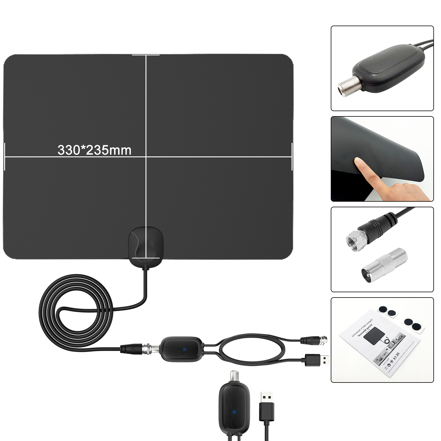 4K free VHF UHF ATSC ISDB-T digital HD best indoor tv antenna