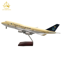 Resin Plane Model Diecast Boeing 747 Saudi Arabian Airlines 1/150 47Cm Airbus Aircraft Model