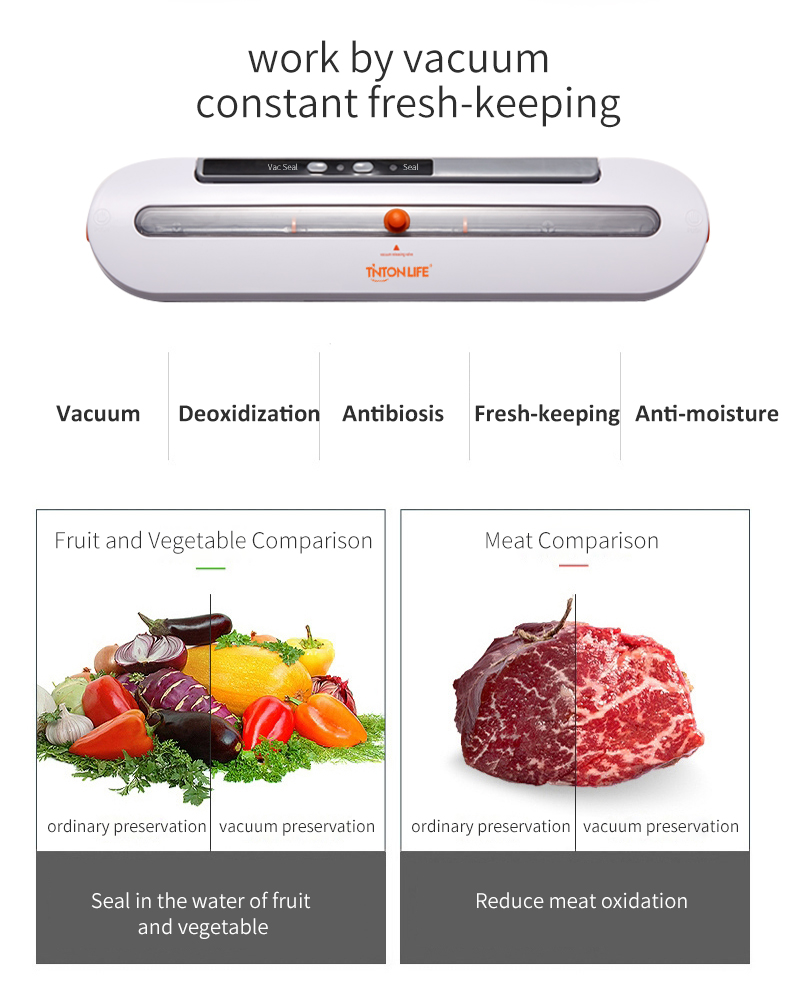 TINTON LIFE Wholesale Cheap Price Food Vaccum Machine Sealer With Sealer Bags