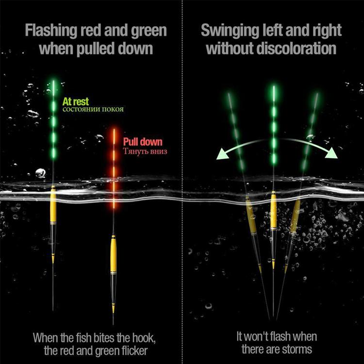 LED Smart Fishing Float Automatic Color Change When Fish Bite Luminous Smart Float Fishing