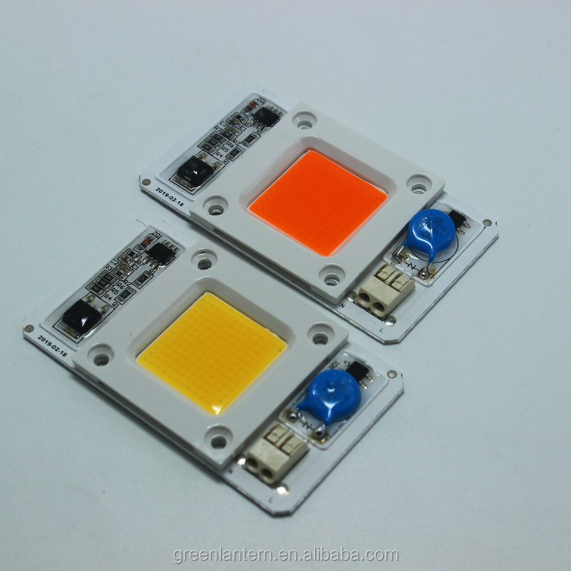 Full Spectrum Chip 50W Driverless 380nm-840nm led grow light chip cob led diode