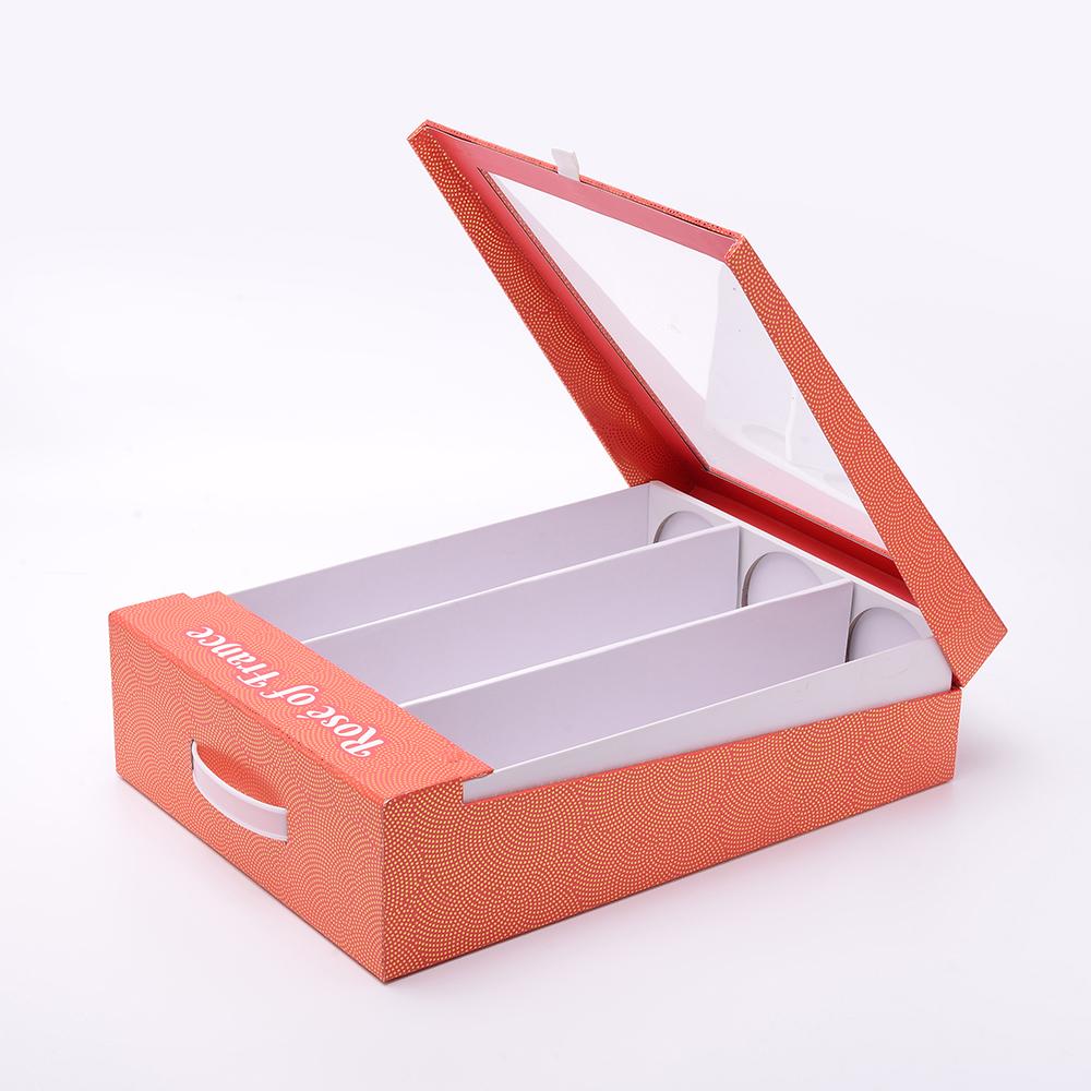 Custom Logo Printed Wine Bottle Gift Magnetic Cardboard Paper Box With Clear PVC Window