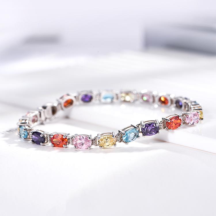 Оптовая Продажа 925 стерлингового серебра ювелирные изделия CZ камни серебро 925 браслеты для женщин
