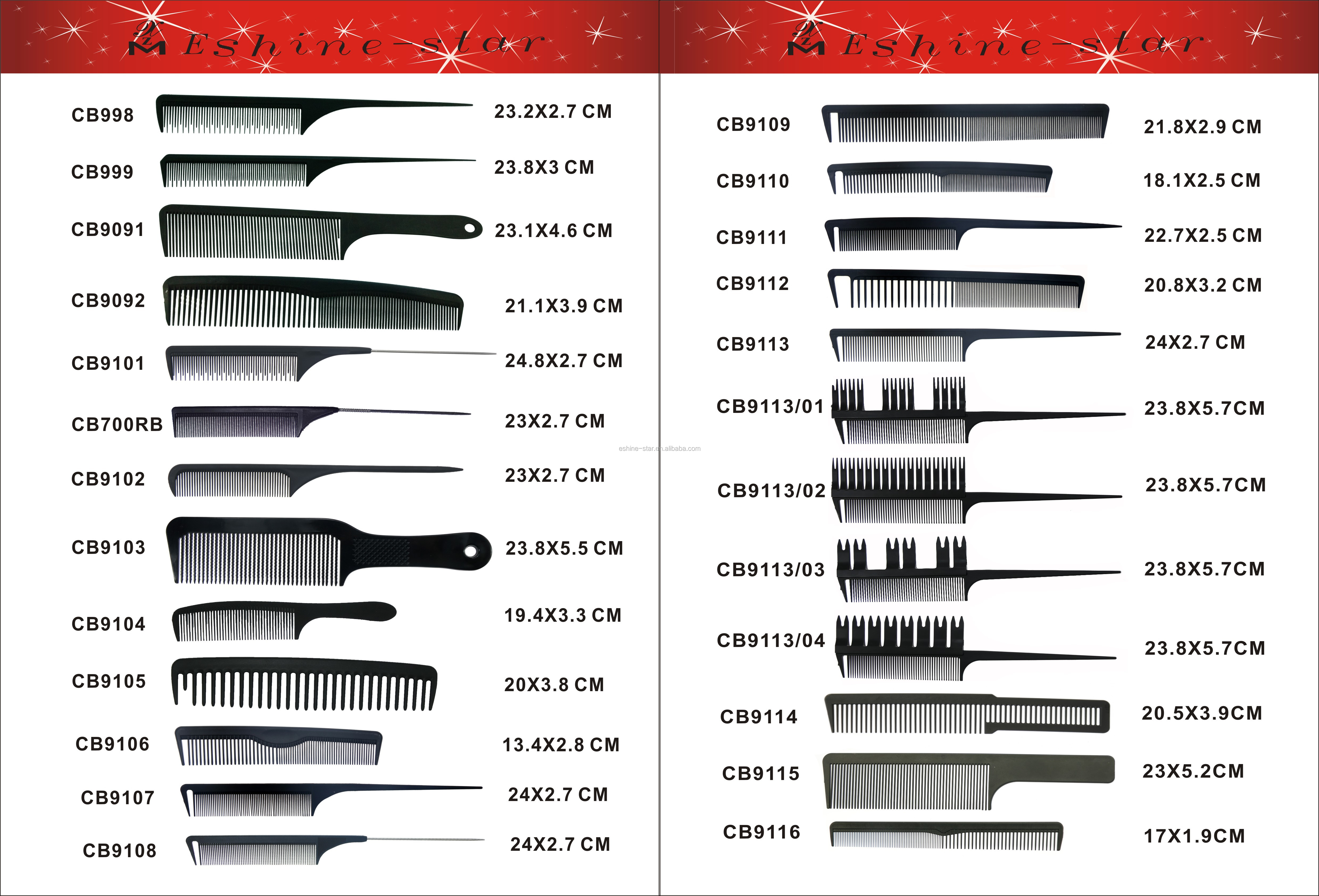 Private label carbon antistatic professional parting barber salon tool cutting tail comb