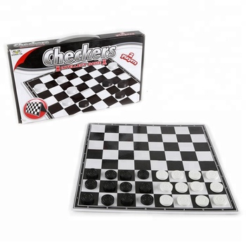 Plastic Intellect Toys Customized Medium Sized Board Game Checkers for 2 Players