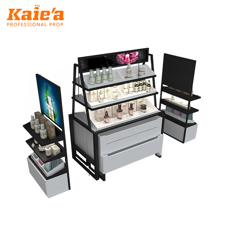 cosmetic storage cabinet/cosmetic store shelf/store furniture for cosmetics