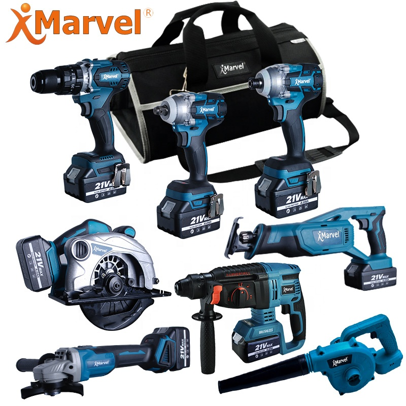 Marvel tools hight quality 10 in 1 set 18v 20v brushless cordless lithium-lon 15-tool combo kit cordless
