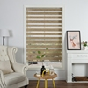 Plain color day and night roman shade roller zebra blinds fabric for hotel