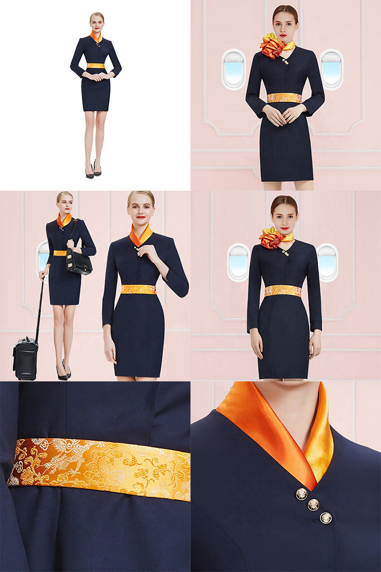 Özel fabrika tedarikçileri yüksek kaliteli fantezi singapur havayolu hava hostes üniforma Airasia üniformaları
