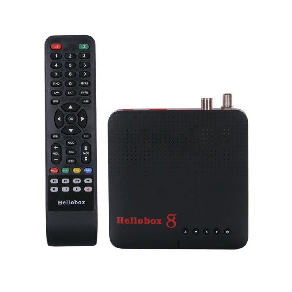 Hellobox 8 Entièrement Automatique-biss Auto-PowerVu Soutien 3G 4G dongle youtube xtream iptv cccam