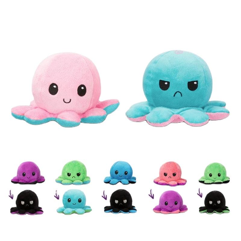 custom funny cute reversible plush octopus stuffed animals toy