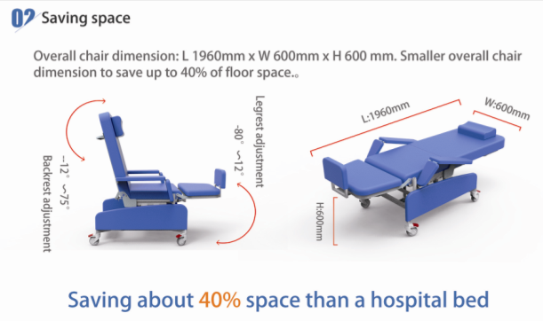 YFY-YS(II) Hot Sale Hospital Electric  Dialysis  Chair