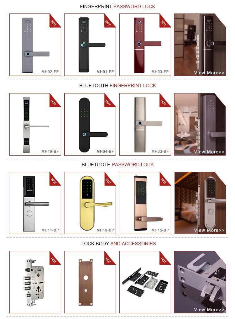 Minghou High quality cheap price bluetooth password card key unlocking smart door lock