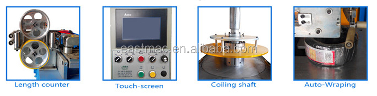 High speed automatic wire and cable coiling wrapping and packing machine tandem with extrusion line