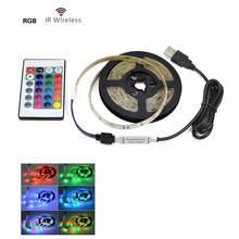 5 в USB СВЕТОДИОДНЫЙ светильник для телевизора, шкаф для дома, шкафы для кухни, спальни, светильник s, светильник ing RGB 1/2/3/4/5 м, неоновая вывеска, ...(Китай)