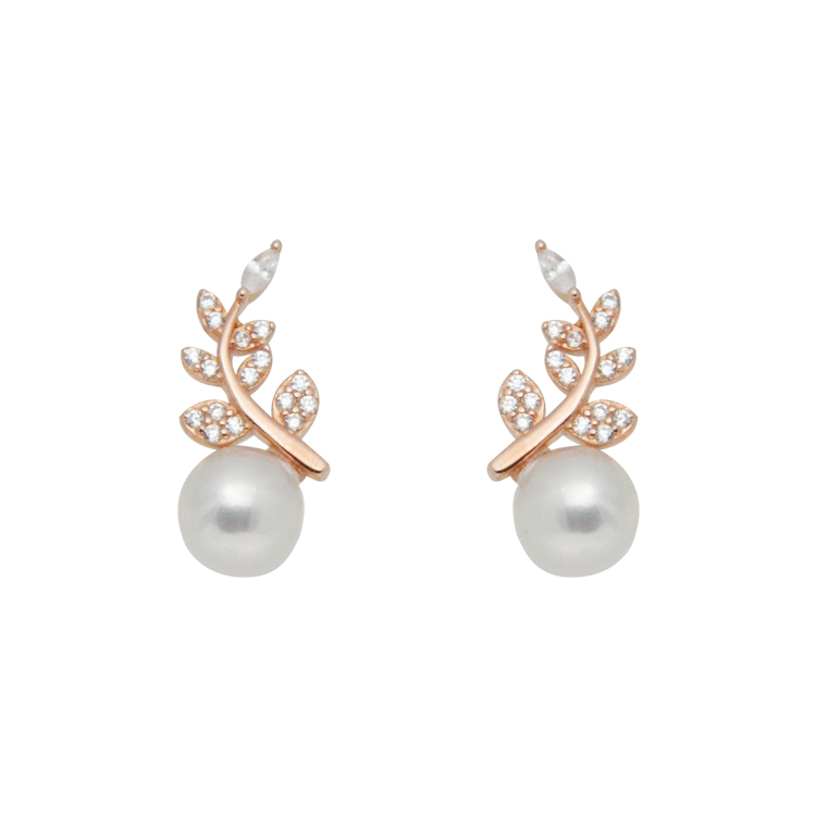 Classical Punk Small 925 Sterling Silver Flower <strong>Pearl</strong> <strong>Stud</strong> <strong>Earrings</strong>