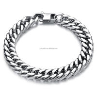 8-12mm stainless steel Cuba Link Bracelet Men's cuff jewelry personalized customization