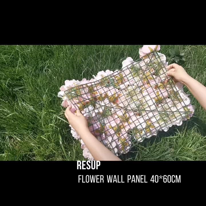 RESUP Fleur Mur Toile De Fond Fleur Panneau Mural Artificiel pour La Décoration