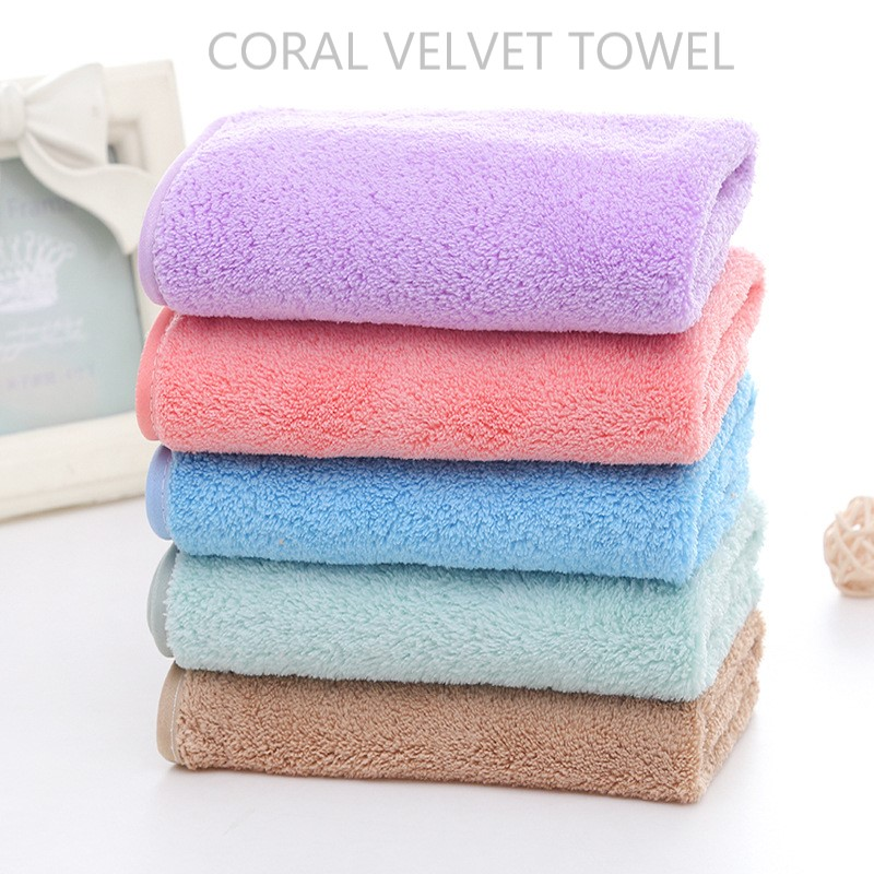 china products velour hand towels microfiber coral velvet towel baby