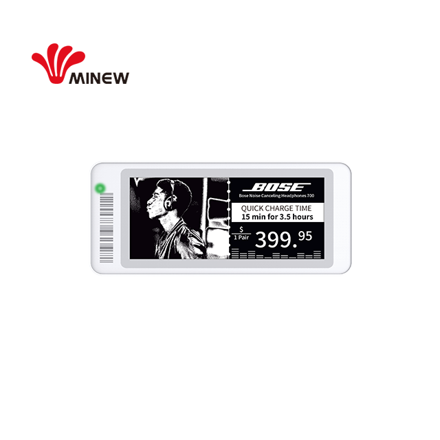 Minew new series 2.90 inch electronic shelf label BLE 5.0 esl