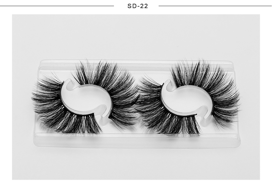 faux mink eyelashes private label 2 pairs eyelash packaging