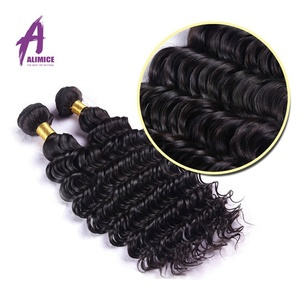 9A LSY Human Virgin Hair Bundles,Natural Color Deep Wave Virgin Malaysian Virgin Hair