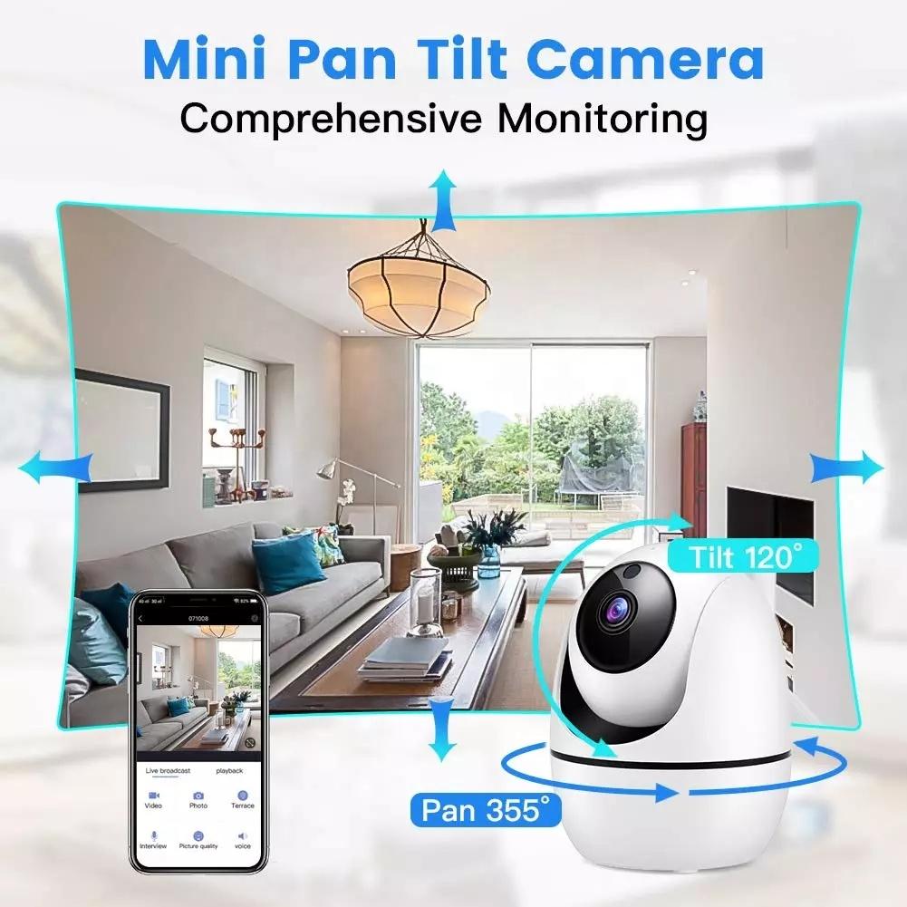 HD 1080P Wireless IP Camera, WiFi Home Security Surveillance IP Camera 3D Navigation Panorama Elder/Pet/Office/Baby Monitor