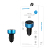 Fashionable 2 USB Ports Universal Dual USB Car Charger Adapter LCD Digital 5V 3.1A car charger