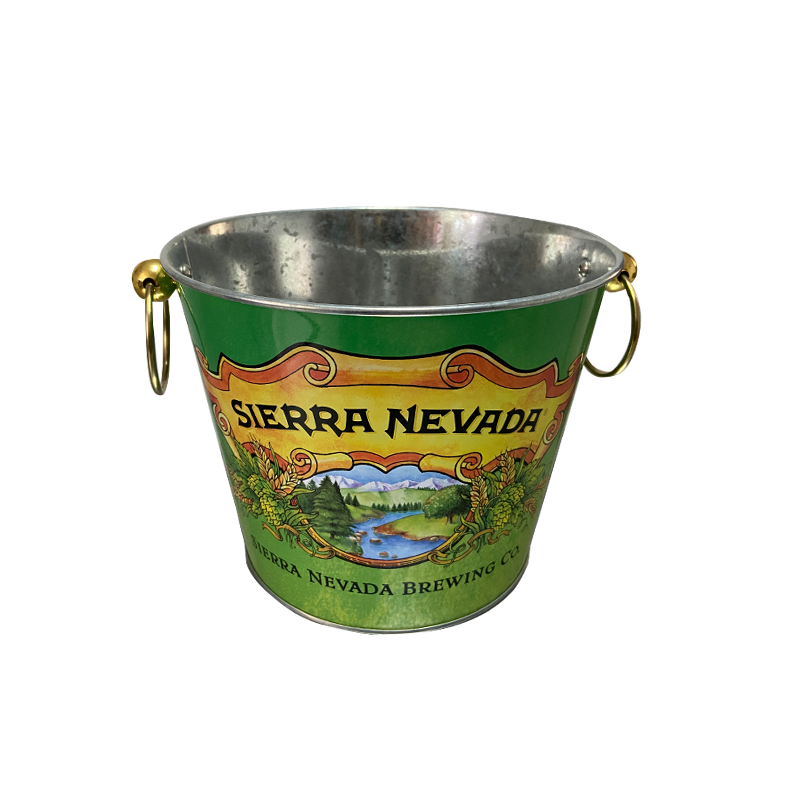 luxurious stainless steel   ice bucket  handlewine bucket for  beer bar