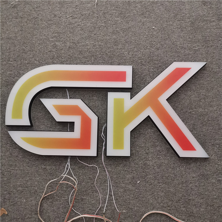 3D Lighting Acrylic Mini Led  Outdoor Sign Mini Acrylic Sign Making Acrylic Face Lighting Letters