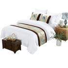 Luxury Wholesale Design Cheap Embroidery Linen flat sheet Hotel Bedsheet duvet cover Bedding Set bed sheet hotel