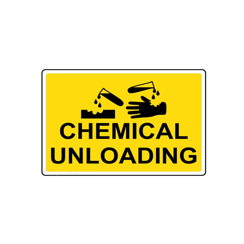 Custom Chimica e Materiali Pericolosi Segnaletica di Sicurezza: Chimica Scarico Segno
