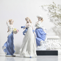 APHACATOP Porcelain Lady Figurine Home Accessories 11.5inch angel figurine