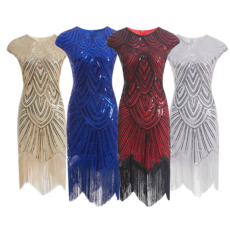 2019 New fashion Coldker 2019The Great Gatsby Charleston Tassel Party Dress