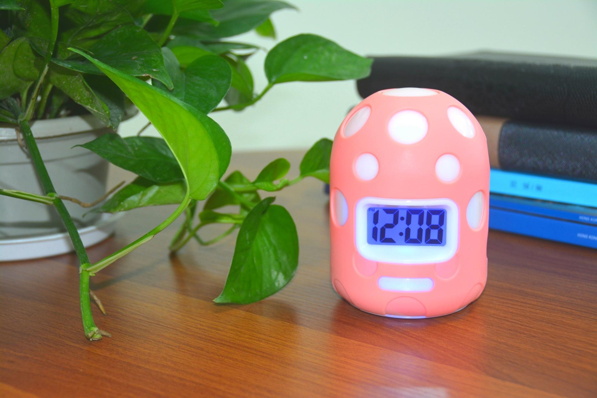 ホット販売高品質キノコ液晶デジタルアラーム時計