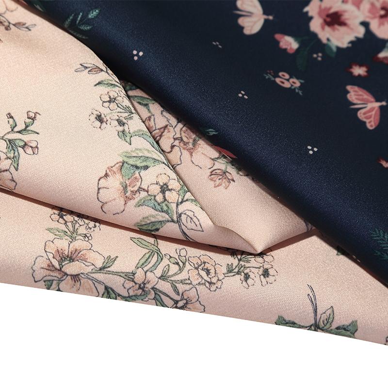 100% Polyester Sutra Dicetak Bahan Satin Murah Crepe Bubble Bunga Sifon Pola Kain Yang Digunakan untuk Gaun Pernikahan Syal