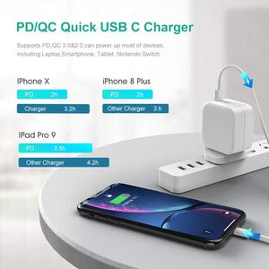 GaN Tech UK USB Type C Wall Charger 61W Power Delivery Fast Charger Foldable Adapter for MacBook iPhone PD 3.0 GaN Wall Charger