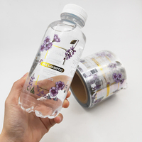 Custom Adhesive Waterproof Bottle Label Printing Clear Transparent Label Logo Vinyl Sticker