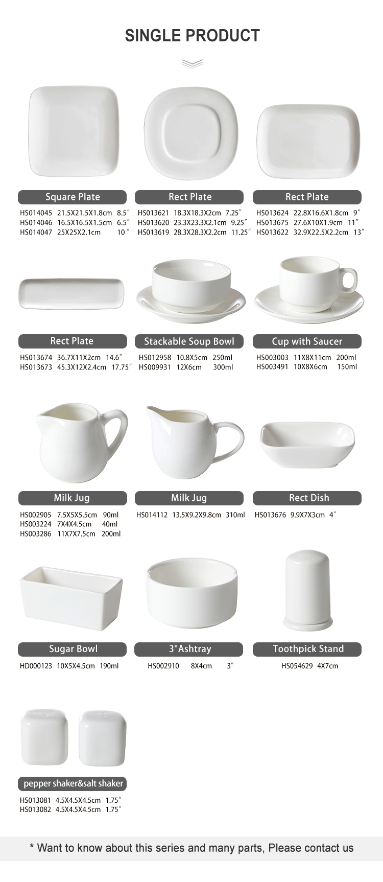 product-Two Eight-Dishwasher SafeCatering Best Seller White Square Wholesale Dinnerware, WeddingEven