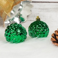 custom printed Plastic Large xmas Tree Ornament decorations glitter ball Hanging clear glass Christmas balls