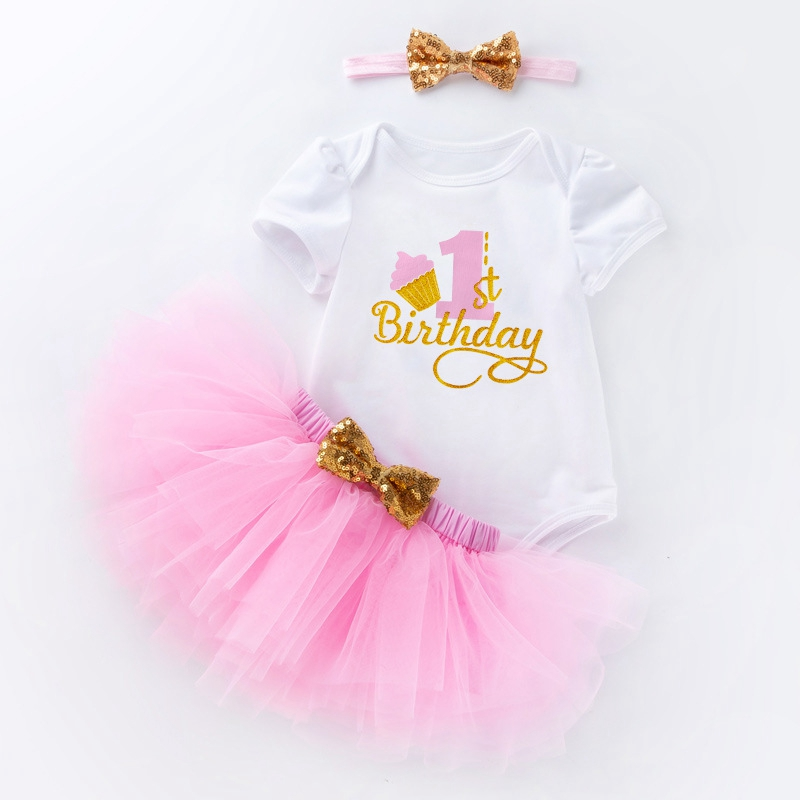 New Babys First Birthday Outfit Princess Girls Lace Tutu Dress Toddler Kids Clothes Baby Baptism Dress Baby 1st Vestido Infantil