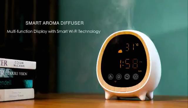 ユニークな製品に販売 Alexa 無線 Lan インテリジェント difuser 超音波アロマディフューザー小さな加湿器アロマ家電